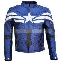Captain America Winter Soldier Biker Leather Jacket