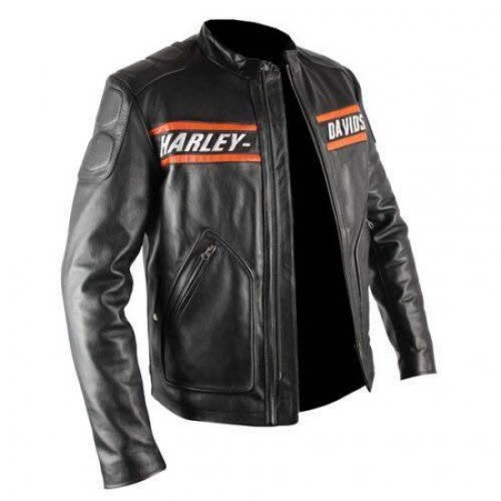 Herren Harley Davidson Original Rindsleder Screaming Eagle Style Bikerjacke