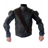 Hugh Jackman Pan Movie Black Cosplay Costume Jacket Vest