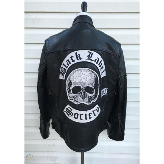 Black Label Society Bls Black Leather Biker Jacket Bls Bj