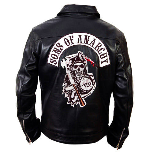 sons of anarchy leather jacket. Black Bedroom Furniture Sets. Home Design Ideas