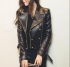 New Women's Black Biker Style Genuine Leather Motorcycle Slim fit Leather Jacket