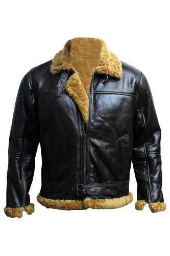 Aviator B3 Ginger Shearling Fly Sheep Bomber Leather Jacket